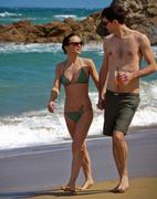 Christina Ricci Wearing a Bikini at the Beach in Puerto Rico - February 2012