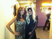Lady Gaga on Jay Leno Show with Sofia Vergara [HOT CLEAVAGE] Pics