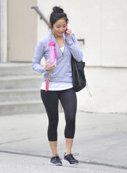 Brenda Song - Leaving the Tracy Anderson Fitness Center in L.A. - 2/5