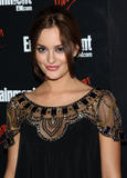 Leighton Meester in beautiful black dress at Entertainment Weekly and Vavoom annual upfront party in New York City